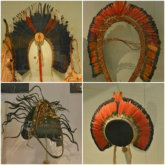 Headdresses and Neck Ornament, A Celebration of Cultures, Africa, the Americas and Asia Pacific, Royal Ontario Museum, Toronto, ON (Snuffy) Tags: acelebrationofcultures africatheamericasandasiapacific royalontariomuseum rom toronto ontario canada