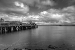 Isle of Mull Ferry Terminal (Capturing The Negative) Tags: scotland oban mull isleofmull blackandwhite bnw bw ferry terminal ferryterminal pier longexposure longexposurephotography ndfilter nd canon canon650d 650d fltofb