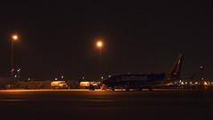 Southwest on a Holding pad (Jslark91) Tags: clarkcounty nevada tamron las d5600 nv vegas county lv lasvegas clark 18400mm airplanes aviation mccarran night airport lightning aircraft boeing holdingpad southwest 737