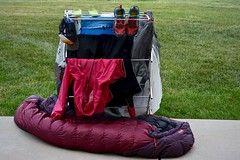 Clean Clothes and Gear After Trekking the 500-Mile Colorado Trail (Ginger H Robinson) Tags: clean clothes gear cap shoes jacket sleepingbag tent trekking hiking camping coloradotrail thruhike 28segments 500miles august summer