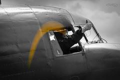 Dakota BBMF ~ ZA947 (deltic17) Tags: za947 dakota douglas dc3 c47 plane radial ww2 lestweforget dday prop thumbsup blackwhite flight ready canon raf rafconingsby bombercounty lincolnshire