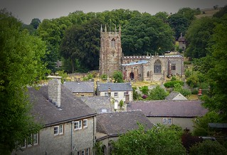 Look back at Hartington Church