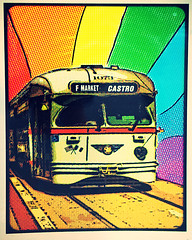 20180711 rainbow-streetcar (Jym Dyer) Tags: aviary:filter=avenue sanfrancisco streetcar