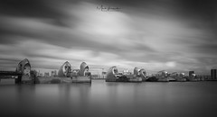 The Barrier (Mark Leader) Tags: london thames flood defence barrier greenwich longexposure monochrome river sky clouds blurred smooth silky serene tranquil peaceful