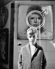 Hey, Man... (Warm Seas) Tags: bw friedakahlo streetphotography davidbowie english england sussex brighton film 35mm smc 28 28mm tmax400 mesuper pentax me super shop window music bowie pentaxmesuper