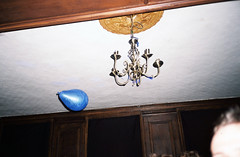 000017-1 (Lee Sydney) Tags: olympusmjuii filmisnotdead fujifilmsuperia200 superia200 fujicolorsuperia200 35mmfilm bristol party balloon blue ceiling lamp