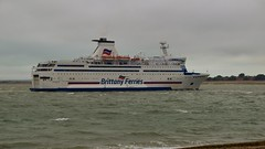 Brittany Ferries. Bretagne. IMO: 8707329. (Drive-By Photography) Tags: brittanyferries bretagne 8707329 stmalo portsmouth ferry ship southsea