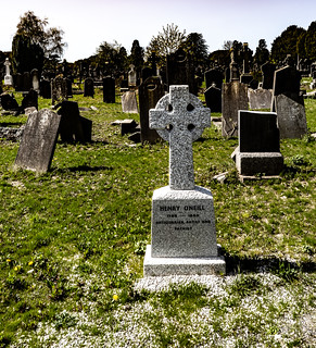 THE RECENTLY MARKED GRAVE OF HENRY O'NEILL [THIS SMALL CROSS WAS ERECTED IN 2016]-138641