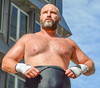 DSC_8061-2 (TDog54Photography) Tags: wrestling pro wrestlers men shirtless raleigh north carolina city outside south man lycra gouge bear hairy beard