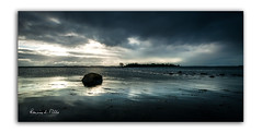 Dark and Miserable (RonnieLMills) Tags: rough island islandhill high tide strangford lough causeway stones choppy waters rocks comber newtownards county down northern ireland blues greys