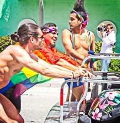 Guys on Parade (LarryJay99 ) Tags: pridefest2018 2018 lakeworth florida festival men male man guy guys dude dudes manly virile studly stud masculine sexyman manlybutts shirtless parade nipples peekingarmpits peekingnipples prifile faces facialhair geards tatts tattoos hairyarms photographers