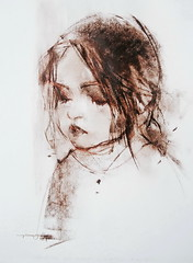 P1018074 (Gasheh) Tags: art painting drawing sketch portrait child girl pastel color gasheh 2018