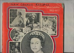 scan0123 (Eudaemonius) Tags: ls0028 the queens silver jubilee 19521977 souvenir cuttings book collection raw 20180722 eudaemonius clippings recipes newspaper recipe cooking cookbook cook estate sale find bluemarblebounty
