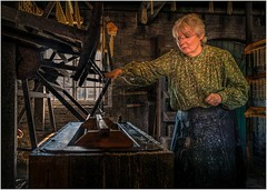 Candle makers wife (Hugh Stanton) Tags: vat candle machine window factory victorian appicoftheweek