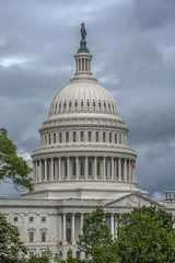Storm clouds over the U.S. Capitol in Washington DC. (Tim Brown's Pictures) Tags: washingtondc capitolhill summer travel uscapitol capitoldome eastfrontuscapitol vericalformat rainclouds stormclouds washington dc unitedstates
