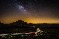 Camino a Roques de Garcia. (Roberto_48) Tags: ngc tenerife teide parque nacional roques garcia via lactea noche nocturna islas canarias estrellas