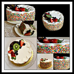 2018 Sydney: 100s & 1000s Fruit Cream Cake collage (dominotic) Tags: 2018 food cake continentalcreamcake fruit 100sand1000s yᑌᗰᗰy circle collage sydney australia