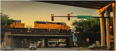 (photo.po) Tags: canont6 canonphotography canon streetsigns streetphotography sunset street bridge trains