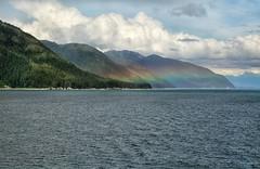Rainbow (crafty1tutu (Ann)) Tags: travel holiday 2018 canadaandalaska canada alaska cruise goldenprincess ocean sea water mountain mountains mountainrange rainbow sky clouds crafty1tutu canon5dmkiii canon24105lserieslens anncameron