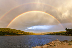 Looking for the Pot of Gold (RondaKimbrow) Tags: colorado rainbow doublerainbow nederland lake mountains morning sunrise weather landscape rondakimbrowphotography clouds scenic view outdoors noone