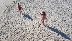Nieces on the Beach (Mamluke) Tags: lighthousebeach beach shore coast coastal west pacific pacificocean california la losangeles mamluke sea seaside sand sandy family nieces shadows shadow