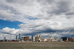 Liverpool from Birkenhead (nickcoates74) Tags: a6300 ilce6300 liverpool merseyferries merseyferry sony merseyside mersey river skyline sky bluesky clouds