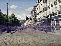Karl Johans gate (Geir Bakken) Tags: oslo street streetphotography perfectbeauty city cityscape lovelycity longexposure norway film analog kodak ektar mamiya mamiyarb67
