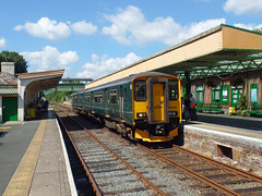150202 Okehampton (3) (Marky7890) Tags: gwr 150202 class150 sprinter 2j05 okehampton railway devon dartmoorrailway train