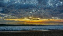 Malibu Beach - California  - Sunset . (Feridun F. Alkaya) Tags: malibu usa beach ngc sunset malibubeach sea sky ocean water people sand california hdr