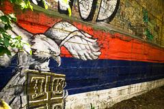 Serbian thing. (Sofija Marjan) Tags: belgrade serbia street streetart flag eagle sign