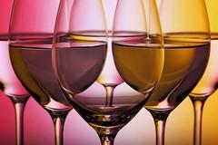 Cheers (*Chris van Dolleweerd*) Tags: wine drink glass wineglass studio strobist chrisvandolleweerd colors series reflections closeup macro