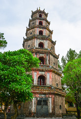 Thien Mu Pagoda in Hue, Vietnam (phuong.sg@gmail.com) Tags: ancient architectural architecture asia asian beautiful brick buddhism building built colored column culture directly east exterior famous feature first high hue indochina landmark local made monumental multi pagoda photography place religion royal spirituality structure styles tall temples thienmu tourism tower vertical vietnam wat