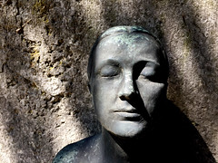 I'm Only Sleeping (Renate R) Tags: imonlydreaming lovingthealien statue sculptur face