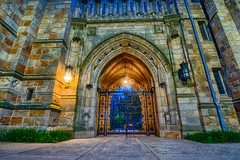 Golden Gate (tquist24) Tags: connecticut hdr newhaven nikon nikond5300 university yale yaleuniversity architecture campus college gate geotagged light lights longexposure unitedstates