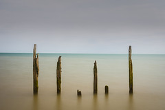 The Guardians (Lloyd Austin) Tags: cablerelease tripod minimalist minimal guardians groynes wooden colour pett level longexposure still tranquil tranquility zomei ndfilter 10stopnd slow coast coastline coastal shoreline uk beach seaside seascape sky shadow tidal horizon shore nikond7200