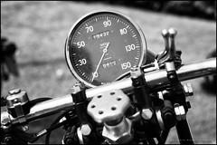 The Vincent unfeasibly large speedo (G. Postlethwaite esq.) Tags: bw dof derbyshire heage sonya7mkii vincent beyondbokeh blackandwhite bokeh classicbikes clock depthoffield fullframe handlebar levers mirrorless monochrome motorbikes photoborder selectivefocus speedometer windmill