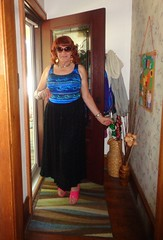 Just A Woman, Showing Off (Laurette Victoria) Tags: skirt redhead laurette woman sunglasses