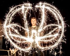 Fire Dance (Mercenaryhawk) Tags: lake 26 danbury wisconsin webb sparklers fireworks summer night late stars big dipper fun light painting long exposure people guys guy man canon eos 5ds 5dsr