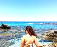 🙋 (__jo_) Tags: greece greeksummer greek summer summervibes hellas volos pelio pilio vacation trip sun sand girl model blue swim beachlife beach seaside sea sealife