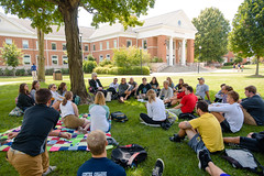 Class Outside Fall 2017 (Centre College) Tags: 2017 academics classoutside classroom day fall inclass outdoorclassroom outside professor teaching younghall danville kentucky unitedstates usa