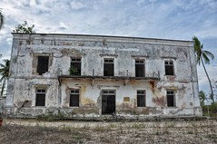 Colonial building in Mossuril, Northern Mozambique.