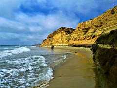 California's Best Beaches, Torrey Pines State Park (moonjazz) Tags: california coast ocean nature travel hiking sandiego torreypines cliffs photography pacificocean westcoast amazing geology best places lowtide beach walk park southerncalifornia surf sky color preserve wild spectacular visit sandstone earth moonjazz
