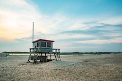 Lifeguard Station 2 (mbinebrink) Tags: assateague virginia nikon d750 tamron lifeguardstation beach sand sunset clouds