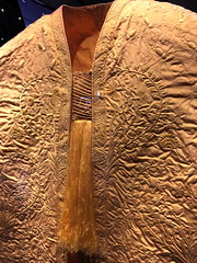 2018-07-24 IMG_6860 (horseanddrabbit) Tags: spiders spidersilk cloth rom museum garment textile