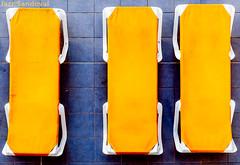 1+2=3. Morro Jable, Fuerteventura, septiembre 2017. (Jazz Sandoval) Tags: 2017 amarillo azul abstracción blanco blue contraste canarias color curiosidad curiosity colour contrast digital day dìa elfumador españa exterior fuerteventura geometría gráfico geometrías geometry geometrìa white islascanarias ilustración jazzsandoval luz light lines lineas matemáticas morrojable sombras hamacas tres tumbonas piscina yellow