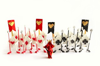 Queen of hearts & Trump Soldiers