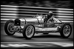 1937 MG BELLEVUE SPECIAL. (bainebiker) Tags: 1937mgbellevuespecial classiccar vintage oldtimer racing motorsport panning speed canonef100400mmf4556lis cadwellpark lincolnshire uk monochrome