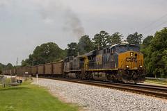 CSX T842-24 at SE Acworth (travisnewman100) Tags: csx train railroad coal freight wa subdivision atlanta division southend acworth georgia es44ah ac44cw yn3 yn2 ge gevo t842 rr unit