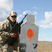 shooting a 308 Winchester Mossberg Scout rifle on a 600-yard AT