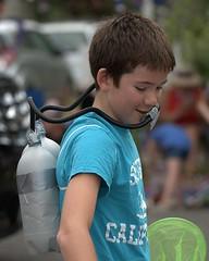 Scuba Kid (Scott 97006) Tags: kid boy male parade diver tank scuba costume toy net tanks